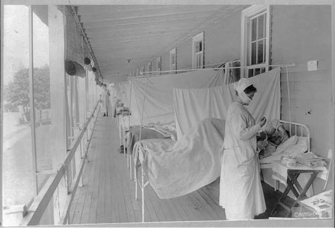 influenza ward Walter Reed