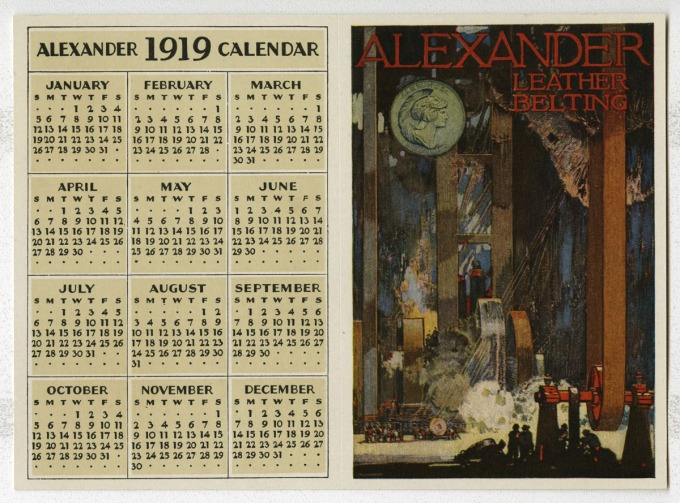 alex 1919 calendar